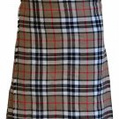 Waist 26 Size Handmade Thompson Camel Tartan Kilt Custom Size Traditional 5 Yard Scottish Skirt