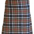 Waist 46 Size Handmade Thompson Camel Tartan Kilt Custom Size Traditional 5 Yard Scottish Skirt