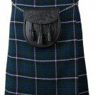 Traditional 8 Yard Kilt Scottish Men's Kilt Casual Kilt Douglas Blue Size 58 Waist Pleated Skirt