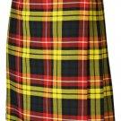 Traditional 8 Yard Kilt Scottish Men's Kilt Size 28 Waist Casual Kilt Buchanan Tartan Skirt