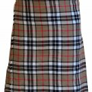 Thompson Camel Tartan Kilt Traditional 8 Yard Kilt Scottish Kilt Size 52 Waist Pleated Skirt