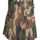 Real Tree Camouflage Tactical Kilt with Detachable Pockets Custom Size 58 Waist Size Utility Kilt
