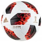 Adidas Telstar 18 World Cup Top Replica Ball - Knockout Rounds (White/Solar Red/Black)