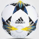 Adidas Finale 2018 Kiev Official Match Replica 32 Panel Soccer Ball (White/Black/Solar Yellow/Blue)