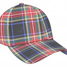 Scottish Black Stewart Tartan Golf Baseball Cap Polo Hat