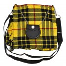 Scottish Tartan Kilt Shape Ladies Bag, Purse, Sponge Bag, Available In McLeod of Lewis Tartan