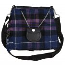 Scottish Tartan Kilt Shape Ladies Bag, Purse, Sponge Bag, Available In Pride of Scotland Tartan