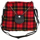 Scottish Tartan Kilt Shape Ladies Bag, Purse, Sponge Bag, Available In Wallace Tartan