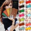 12 Colors Wallet Korean Women Slim Card Package Clutch Handbag
