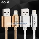 2M Metal Braided 2A Lightning USB Charger Cable For iPhone 5 5S 6 6s Plus