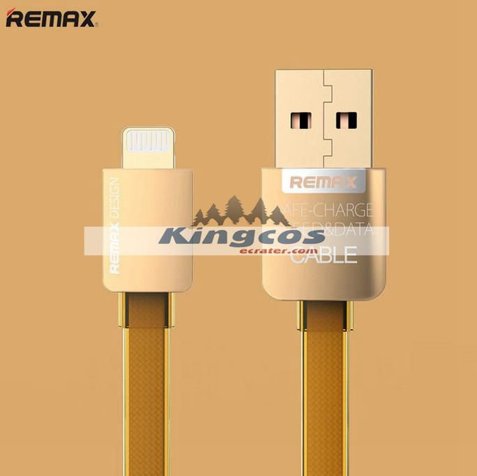 REMAX Braided Metal 2A Lightning USB Data Charger Cable For iPhone 5S 6 6s Plus