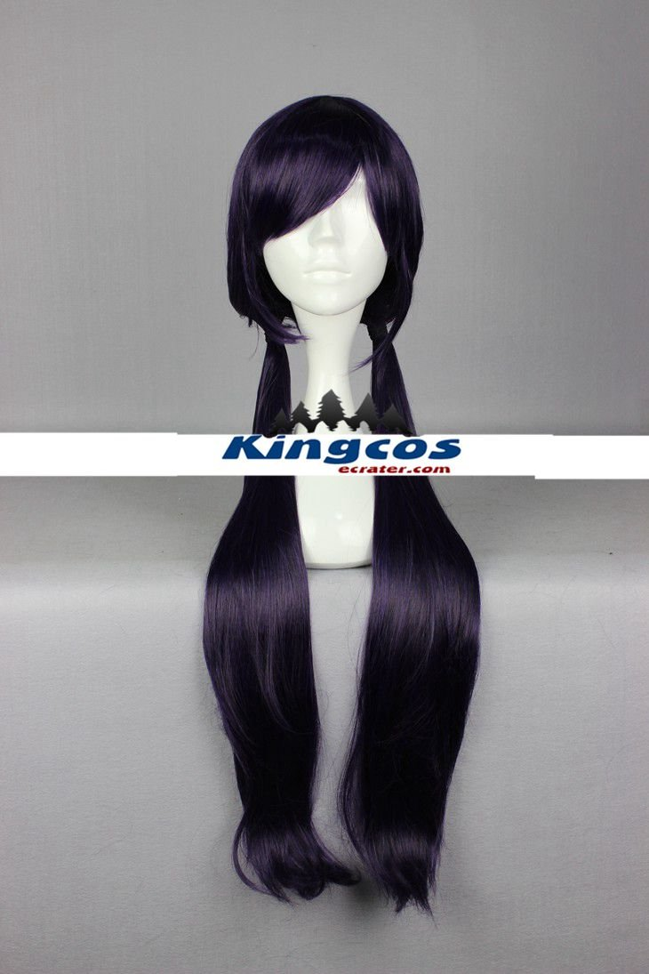 Love Live Cosplay Toujou Nozomi Synthetic 85cm Womens Purple Black Mixed Long Wig