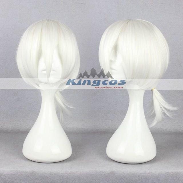 35cm White Wig Manga Kagerou Project Cosplay konohaharuka Short Male Wig