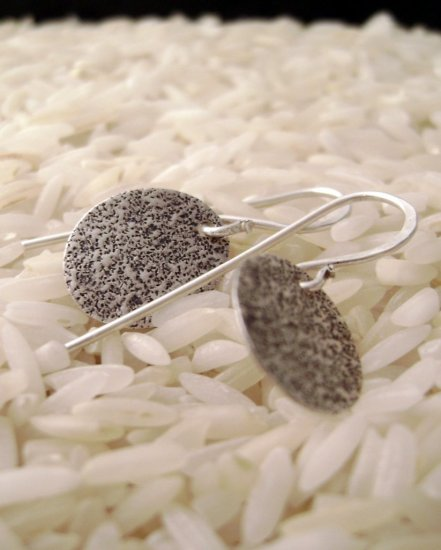 Night Smashing - sterling silver earrings