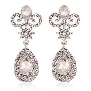 Chandelier Cubic Drop Bridal Earrings Dangling Wedding Earrings Crystal Earrings