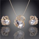 Fashion Necklace14k Gold Filled Austrian Crystal  Pendant Necklace Earrings sets
