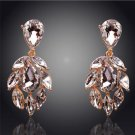 fashion Earrings Costume Jewellery 18K Gold Plated Austrian Crystal Earrings