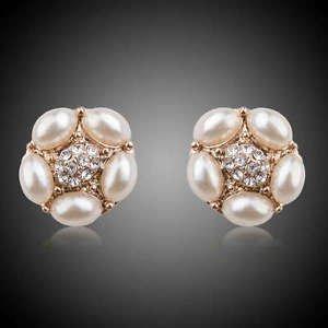 Pearl Stud  Bridal Earring Fashion Jewelry Pearly Bridal Wedding Stud Earrings