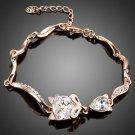Rose Gold CZ Bracelet Rose Gold Plated Stellux Austrian Crystal Bracelet Catseye