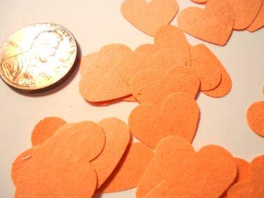 Orange heart confetti wedding supplies paper confetti hearts party supplies