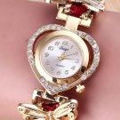 Women's Watchs Stainless Steel Analog Quartz Weave Bracelet Wrist Watch Bangle !