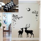 Black Cool Wall Stickers  Removable Nursery DIY Decor Christmas Mural+Gift
