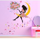 Women Room Flower Moon Removable Wall Art Sticker Decal DIY House Mural Decor