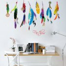 Lucky Flying Feather Removable Art Vinyl Home Wall Sticker Decal Mural Decor