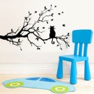 Black Tree Cat Wall Sticker Room Home Decor Mural DIY Removable Art Vinyl Decal