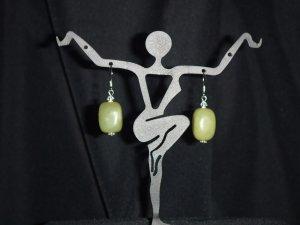 Apple Green Howlite Gemstone Earrings