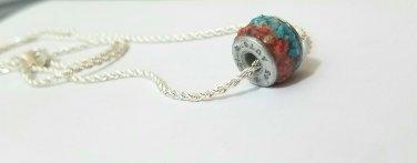 Gun primer gemstone wheel charm