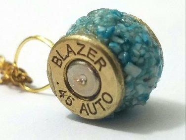 Bullet casing gemstone wheel