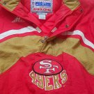 NFL San Francisco 49er pull over jacket, size large,Vintage, super condition