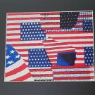 American flags print love your USA with this unique print comes with black matt