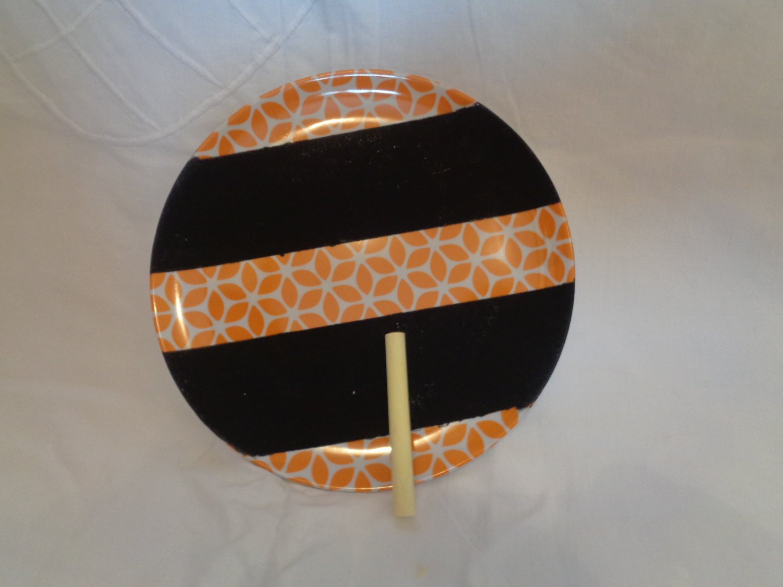 Small orange patterned chalkboard