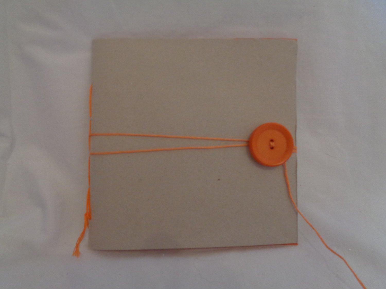 Handmade Notebook - with Orange Button