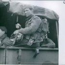 Soldiers returning from raid on Dieppe. - 8x10 photo