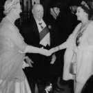 Winston Churchill with wife Clementine Churchill at an event. - 8x10 photo