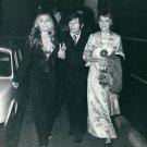Sharon Tate, Roman Polanski and Mia Farrow walking on sidewalk.  - 8x10 photo