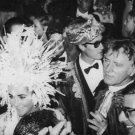 Liz Taylor and Richard Burton in a party. - 8x10 photo