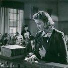 A film scene where Swedish actress Ingrid Bergman is acting - 8x10 photo