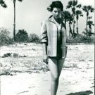 Silvana Mangano walking on a sunny day.  - 8x10 photo