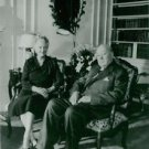 Winston Churchill sitting with wife. - 8x10 photo