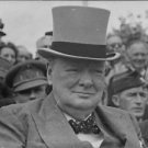 Winston Churchill with people. - 8x10 photo
