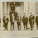 Japanese generals lined up in front of a building. - 8x10 photo