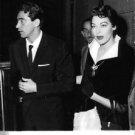 Ava Gardner with men. - 8x10 photo