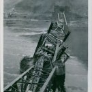 A view of the collapse of the Remagen bridge across the Rhine River. - 8x10 phot