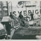 World War II. U.S. Food for Greek Civillans - 8x10 photo