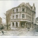 U.S. Troops clear battered Dorsten. - 8x10 photo