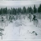 People in snow - 8x10 photo